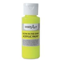 Glow-in-the-Dark Acrylic Paint, Yellow