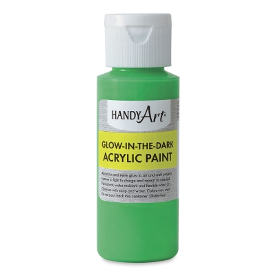 Glow-in-the-Dark Acrylic Paint, Green