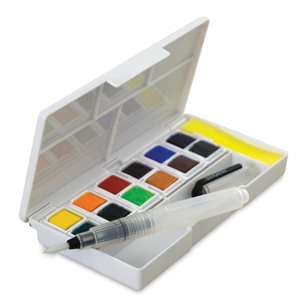 Inktense Paint Pan Travel Set, Palette 01