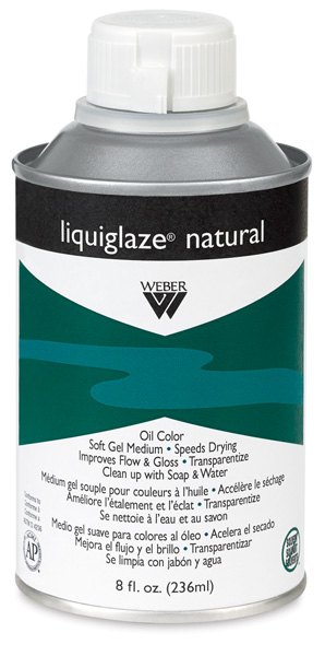 Liquiglaze Natural Oil Medium, 8 oz Bottle