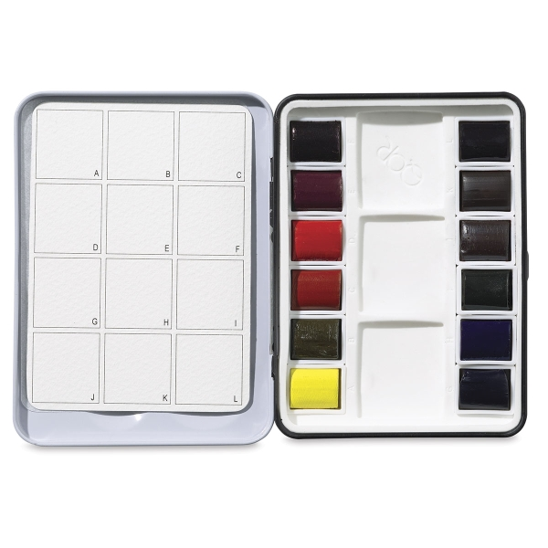 QoR Modern Watercolors, Half Pan Set of 12