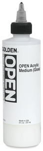Acrylic Medium, Gloss, 8 oz Bottle