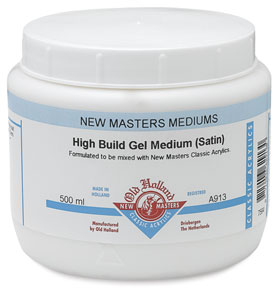 High Build Gel Medium, Satin