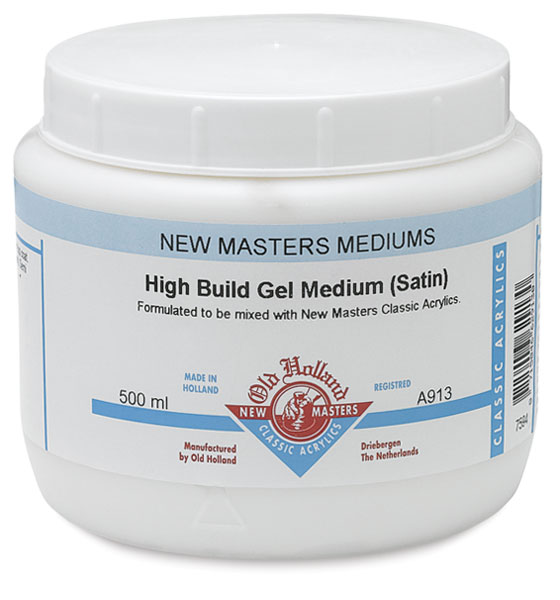 High Build Gel Medium, Satin