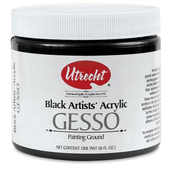 Acrylic Gesso, Black, Pint