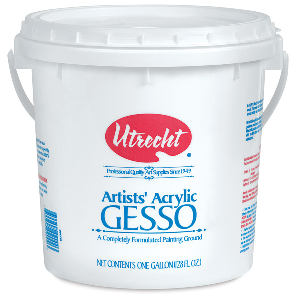 Acrylic Gesso, White, Gallon