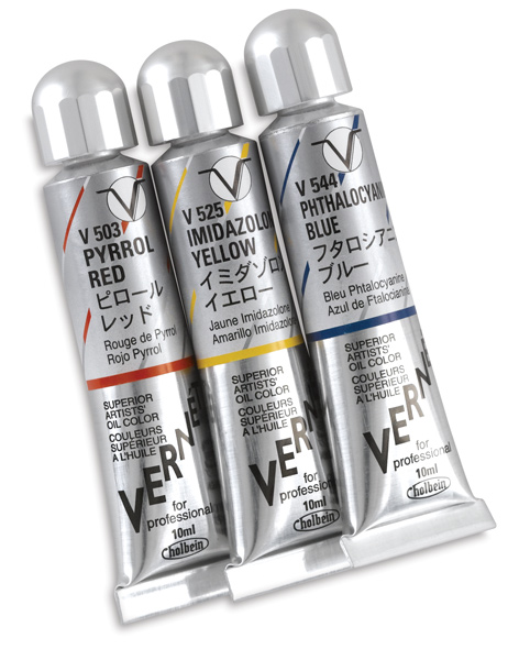 Vernet Superior Artists' Oil Colors, Sampler Set of 3