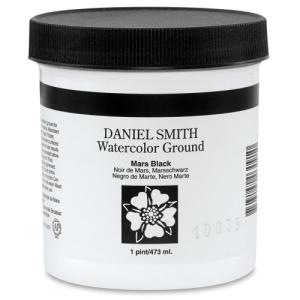 Daniel Smith Watercolor Ground, Mars Black, 16 oz