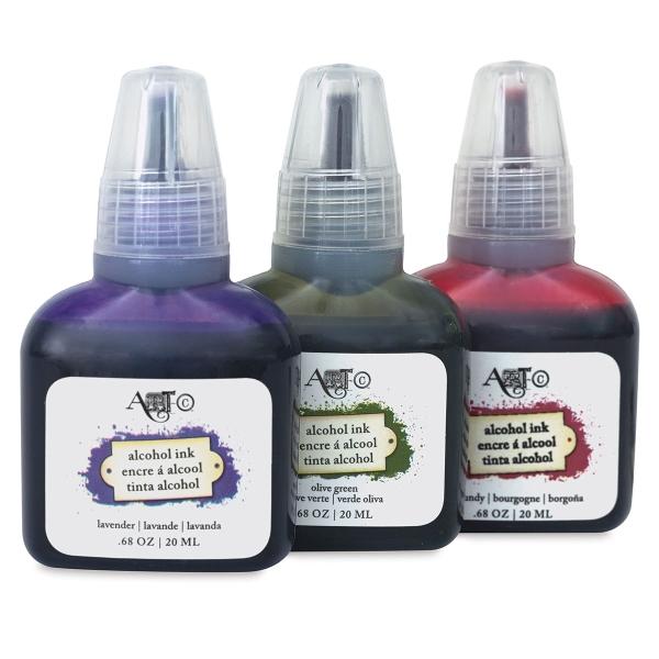Olive/Lavender/Burgundy