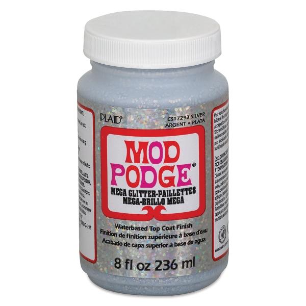 Mod Podge Mega Glitter, Silver