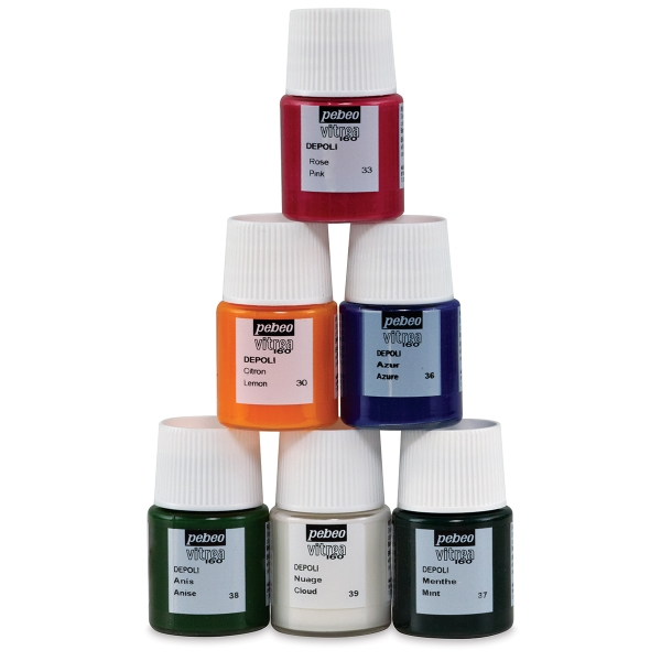 Set of 6 Frosted Colors