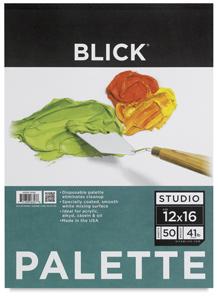 """Disposable Palette Paper Pad, 50 Sheets,12"""" × 16"""""""