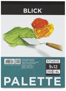 """Disposable Palette Paper Pad, 50 Sheets, 9"""" × 12"""""""
