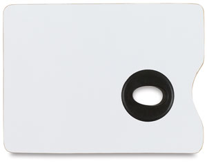 White Melamine Rectangle Palette, 9 × 12