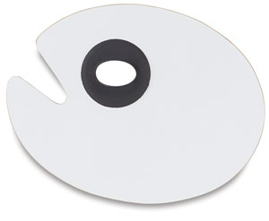 White Melamine Oval Palette, 9 × 12