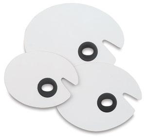 White Melamine Oval Palettes