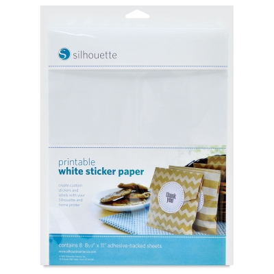 Printable White Sticker Paper, 8 Sheets