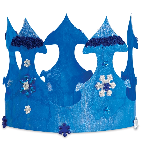 Hygloss Paper Crown, Decorated Example (Decorations not included)