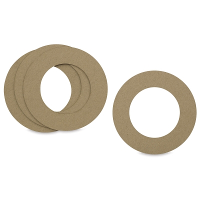"Chipboard Wreath Rings, 6"", Pkg of 4"