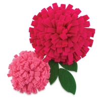 Felt Flowers, Pkg of 2, Playful Pink