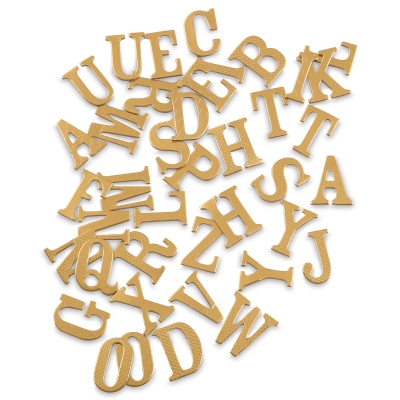 Chipboard Alphabet Stickers, 40 Uppercase Letters