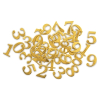 Chipboard Stickers, Numbers, Gold Foil