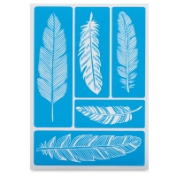 Adhesive Screen Stencil, Feathers