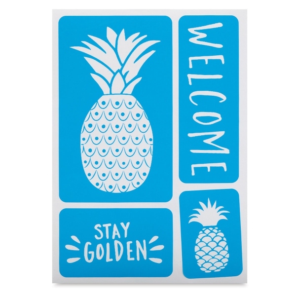 Adhesive Screen Stencil, Pineapples
