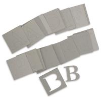 Chipboard Alphabet Stencils, Set of 80