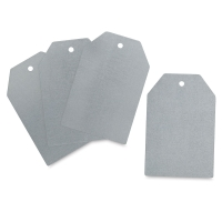 Flat Edge Sheet Metal Tags, Pkg of 3