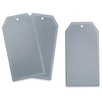 Dot Edge Sheet Metal Tags, Pkg of 3