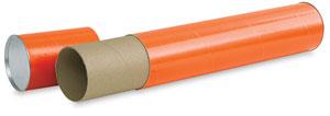 Mailing Tube, Orange