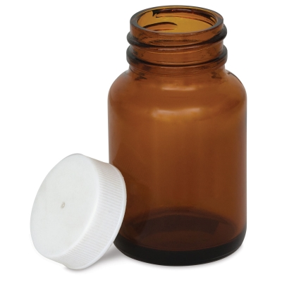 Amber Glass Jar, 2 oz