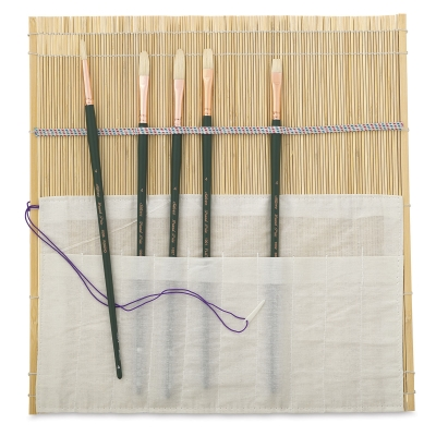 Natural Bamboo Brush Mat(Brushes not included)
