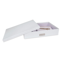 White Laminate Document Box (Contents not included)