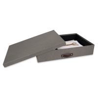 Gray Canvas Document Box (Contents not included)