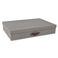 Gray Canvas Document Box