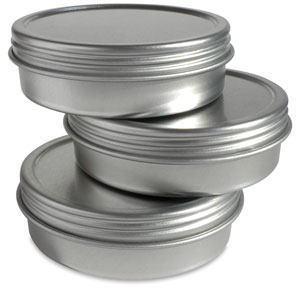 Empty Aluminum Tin, 2 oz