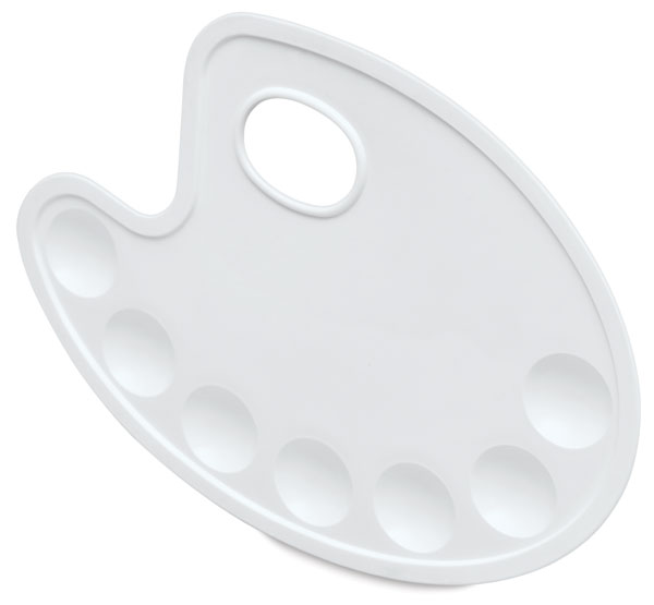 Oval Plastic Palette, 7 Round Wells