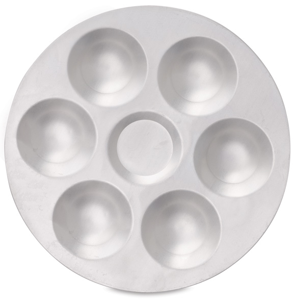 Round Aluminum Palette, 6 Wells