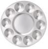 Round Aluminum Palette, 10 Wells
