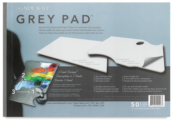 Grey Pad Disposable Palette, Rectangular
