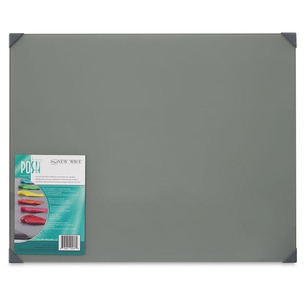 Posh Glass Tabletop Palette, Gray