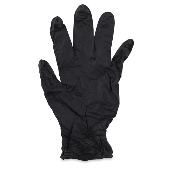 Black Textured Nitrile Gloves