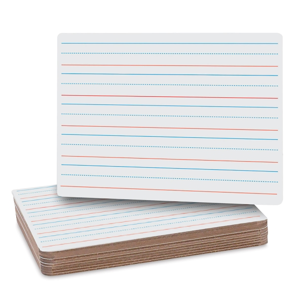 Two-Sided Lined Dry Erase Boards, Pkg of 12
