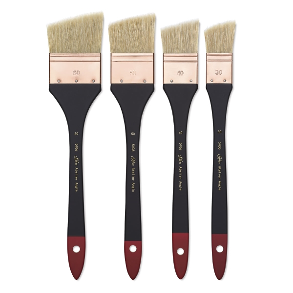 Silver Brush Atelier Hog Bristle Angle Mottler Brushes