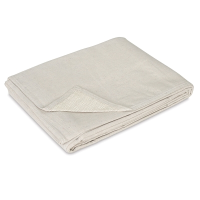 Stay Put Canvas Drop Cloth, 6 ft x 8 ft