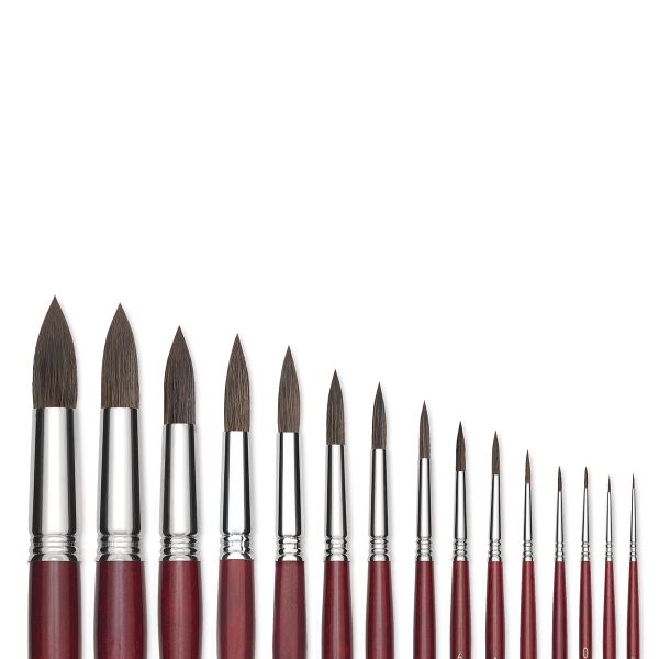 Synthetic Kolinsky Round Brushes