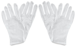 Cotton Gloves, Pkg of 4