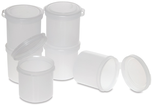 Plastic Palette Cups, 1 oz,  Pkg of 6